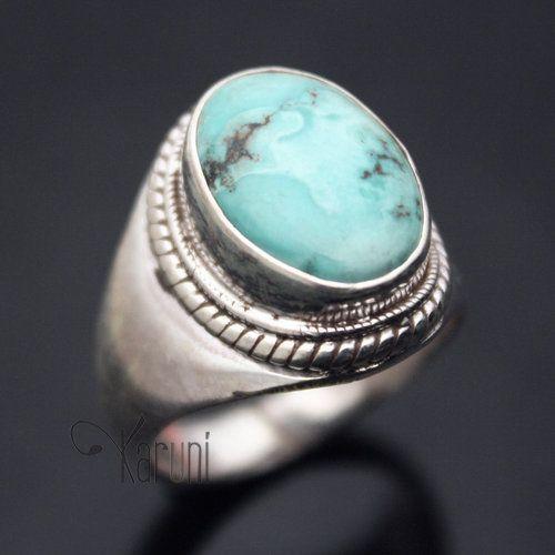 Bague homme pierre de turquoise