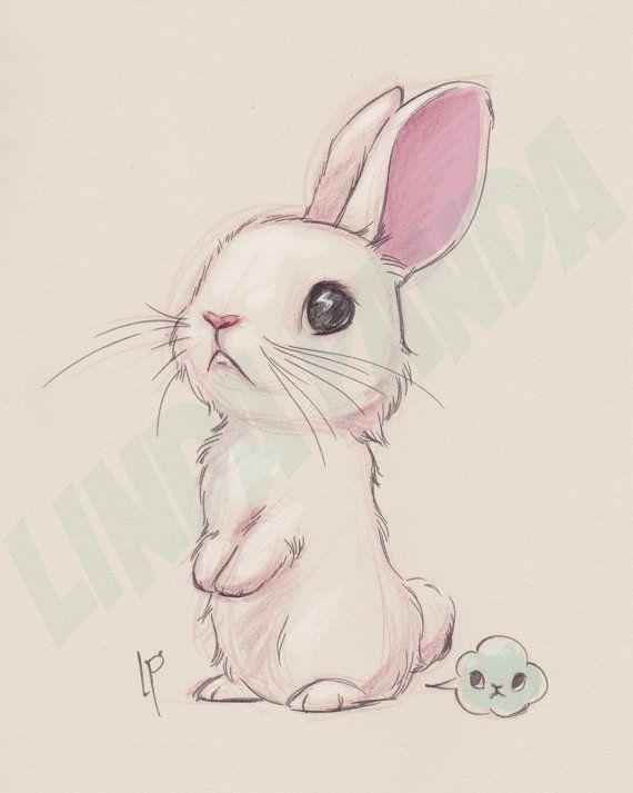 Kawaii Bunny Kunstdruck – Jessica Swan