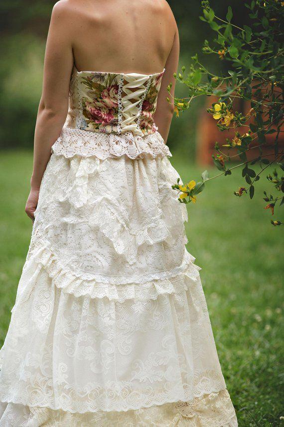 Lady Katherine Rose Wedding Gown Bodice Romantic Rose Corset