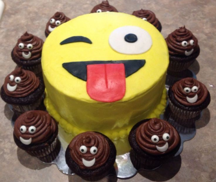 The birthday cake my mom is going to make but the poop cupcakes will look way better!