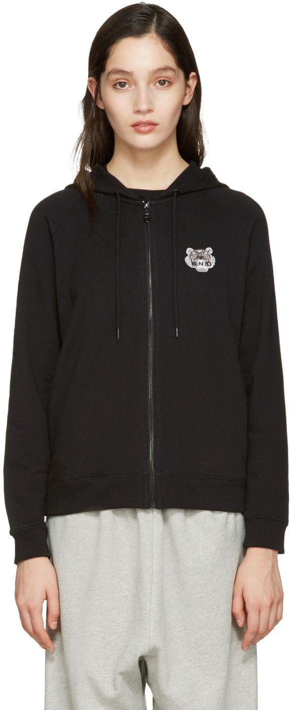 KENZO Black Tiger Patch Hoodie. #kenzo #cloth #hoodie