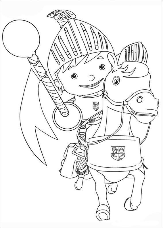 Dibujos Para Pintar Para Niños Mike El Caballero 12