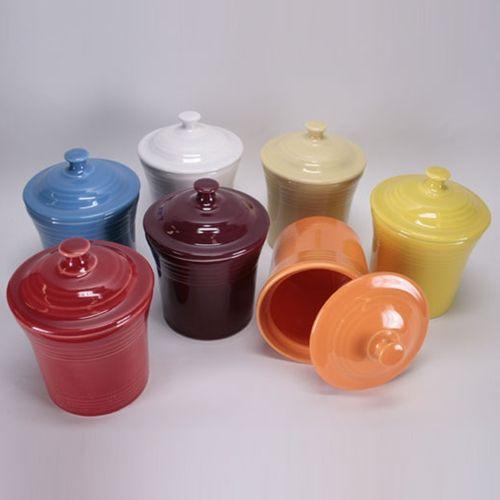 Fiestaware jam jars.
