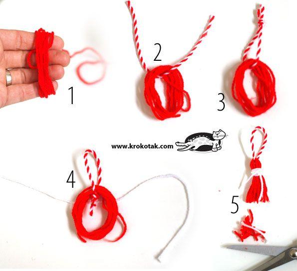 martenitsa how to make a tassel