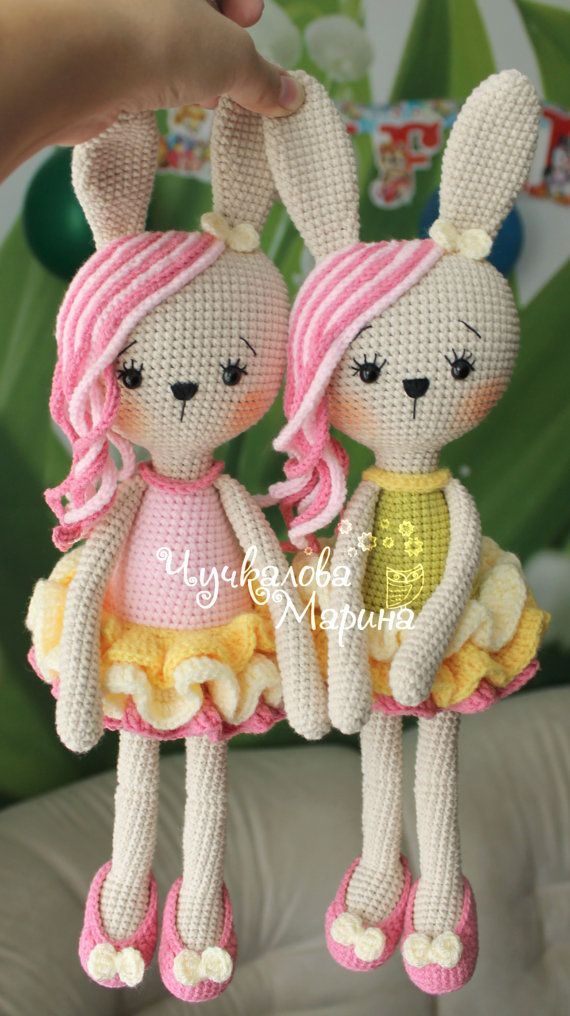 Crochet toy pattern Bunny in lush skirt PDF от MyCroWonders
