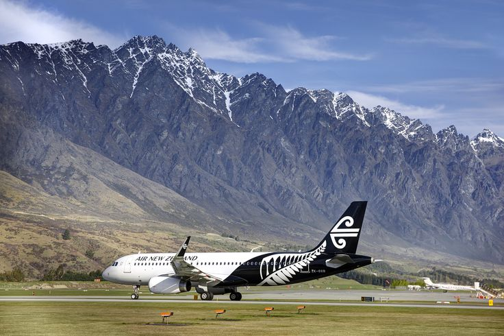 The Air New Zealand Airbus A320 in the new Air New Zealand livery at Queenstown Airport, New Zealand #AirNZ #AirNewZealand #Planes #livery #aircraft #Queenstown #NZ