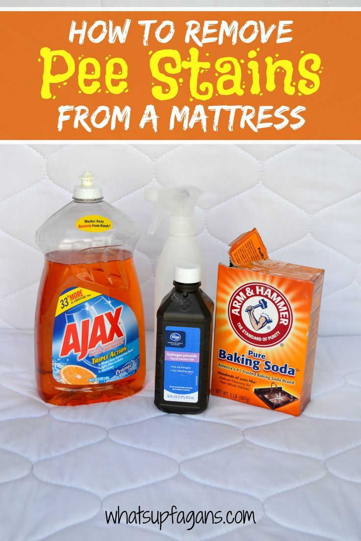 DIY Tutorial on how to remove pee stain from mattress using natural ingredients! It's an easy, quick, and effective cleaning solution. Be rid of the smell too!