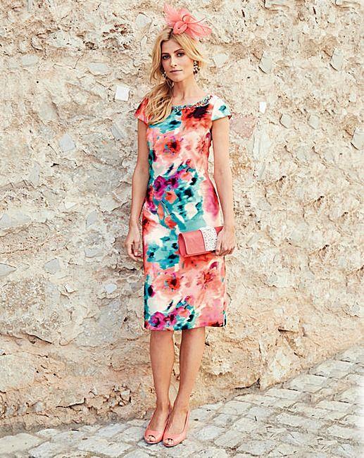 JOANNA HOPE Print Shift Dress | Oxendales