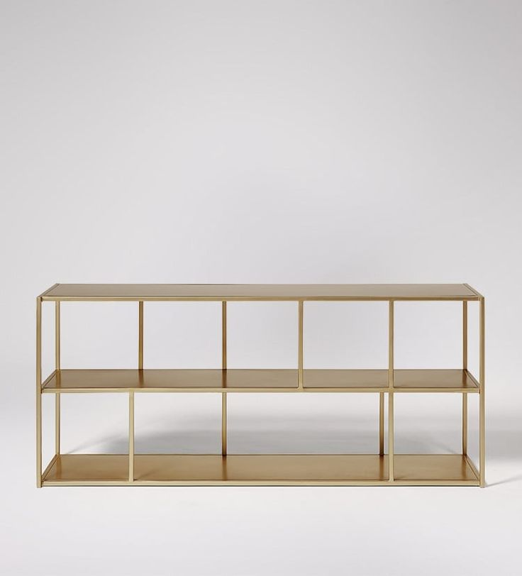 Aero Shelving In Brass