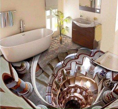 Pavimentazione in 3D: tromba delle scale.