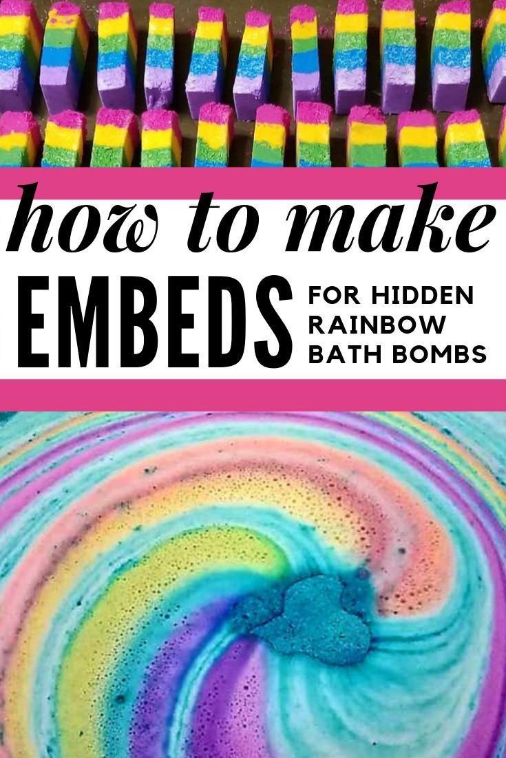 How To Make Rainbow Bar Embeds For Hidden Rainbow Bath Bombs