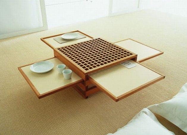 Desain Meja Ruang Tamu Lesehan Modern 12 - Lesehan Khas Jepang dengan Bantal