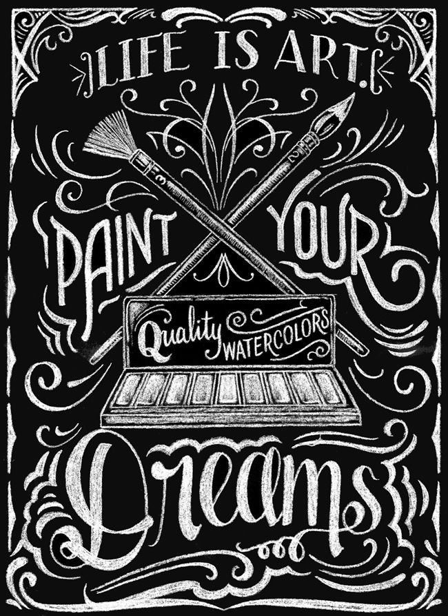Creative Haven Chalkboard Art Coloring Book Inspirational