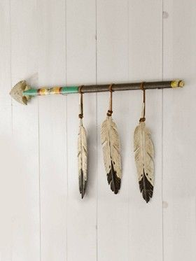 Hanging Feather Spear #nursery #decor