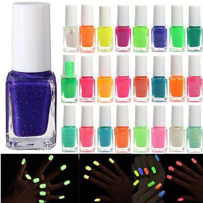 Esmalte De uñas Clavo Polaco Fluorescente Luminoso Pintauñas Brilla Nail Polish