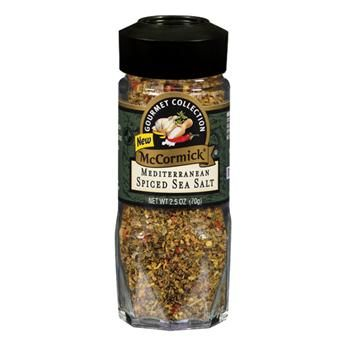McCormick® Gourmet Collection Mediterranean Spiced Sea Salt - My new favorite blend.  I've been using it in/on everything from tilapia to beans and rice to grilled potatoes, etc.
