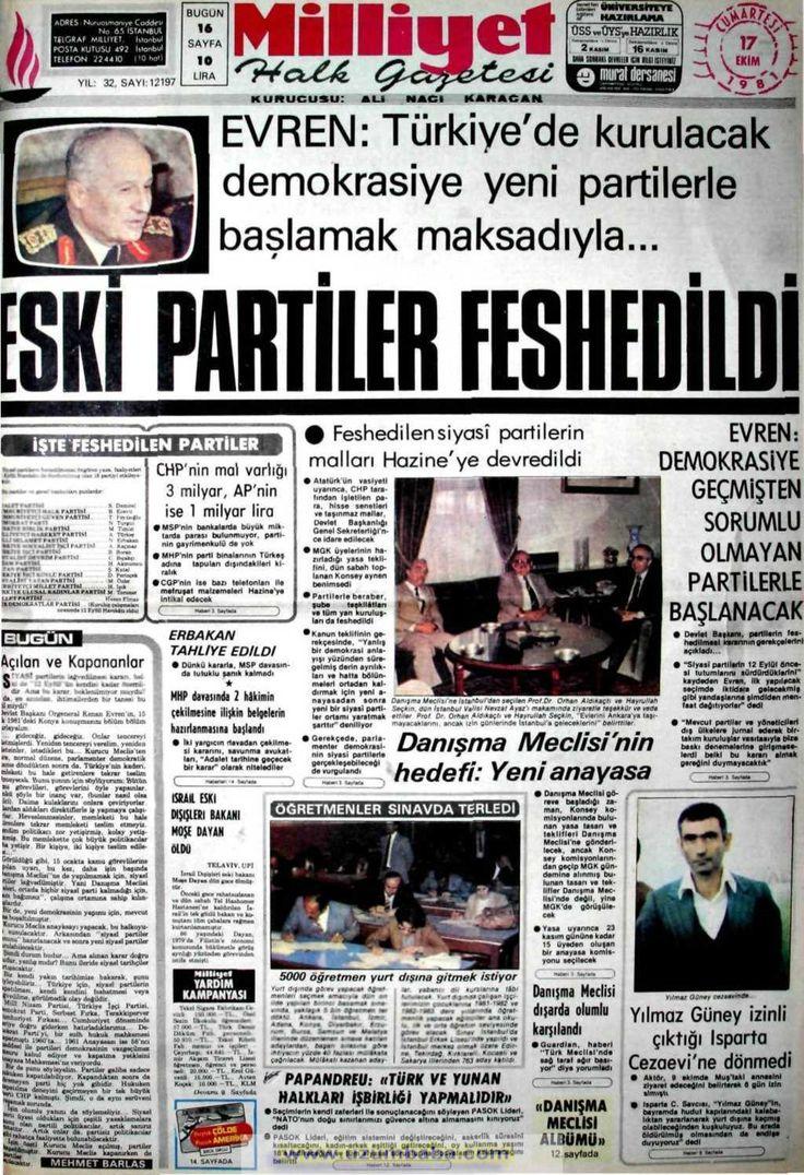 Milliyet gazetesi 17 ekim 1981