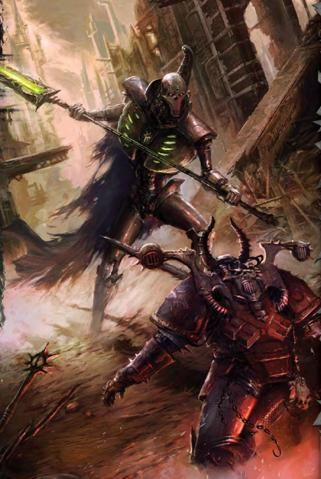 Necron vs Chaos. Stay down, bitch.