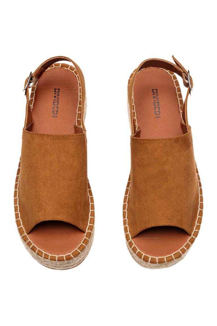Platform sandals - Camel - Ladies | H&M GB