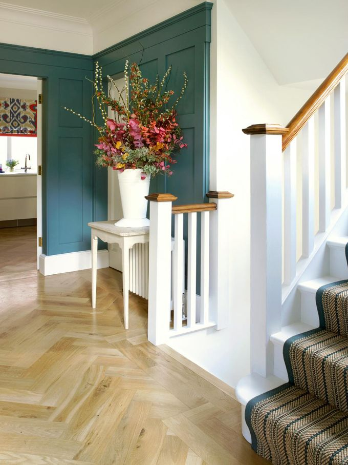 Those blond herringbone floors are to die. House of Turquoise: Amory Brown
