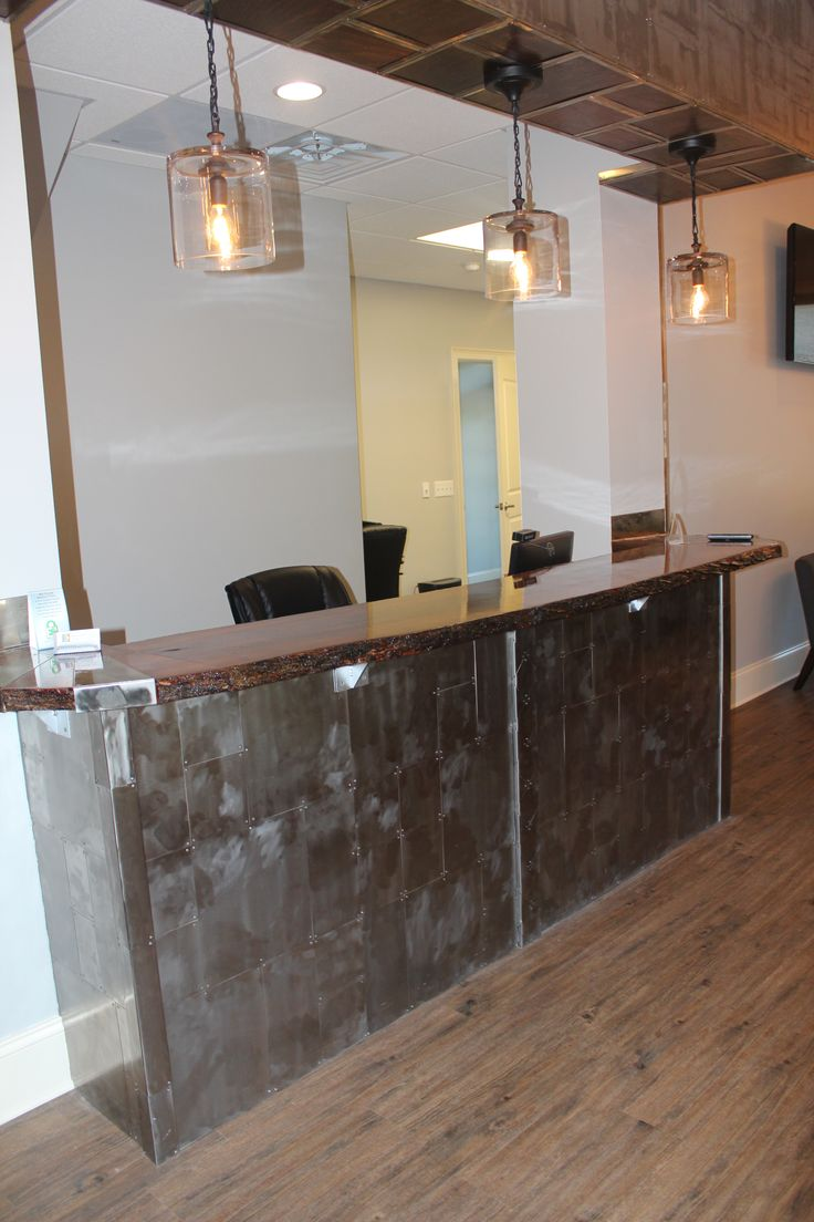 Industrial Reception Desk Office Pinterest Awesome