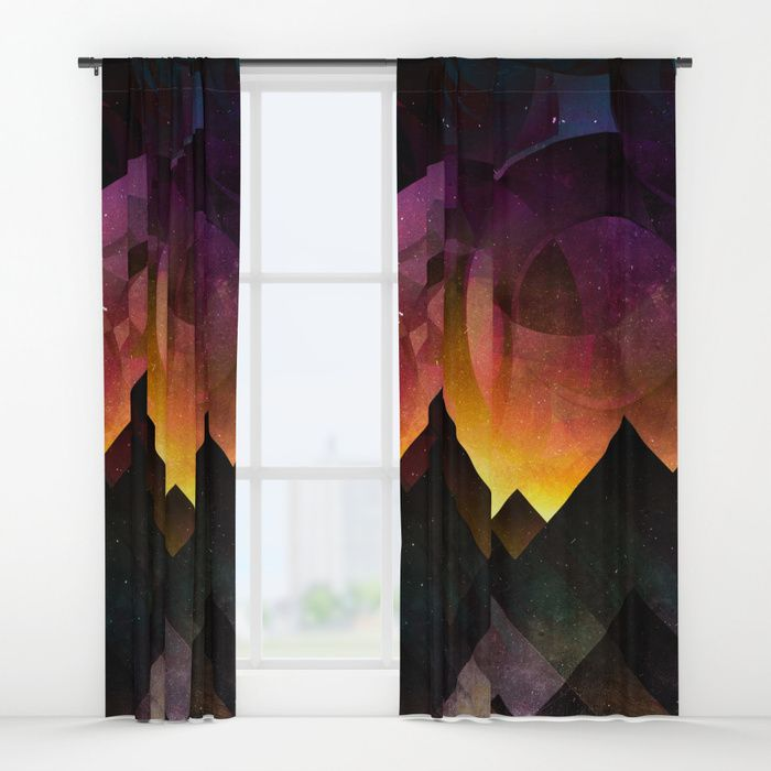 Whimsical mountain nights Window Curtains by HappyMelvin | Society6