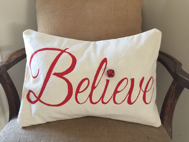 Believe Christmas Pillow