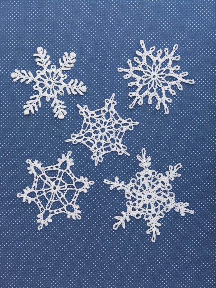 Snowflakes (Crochet) Free patterns on Lion Brand