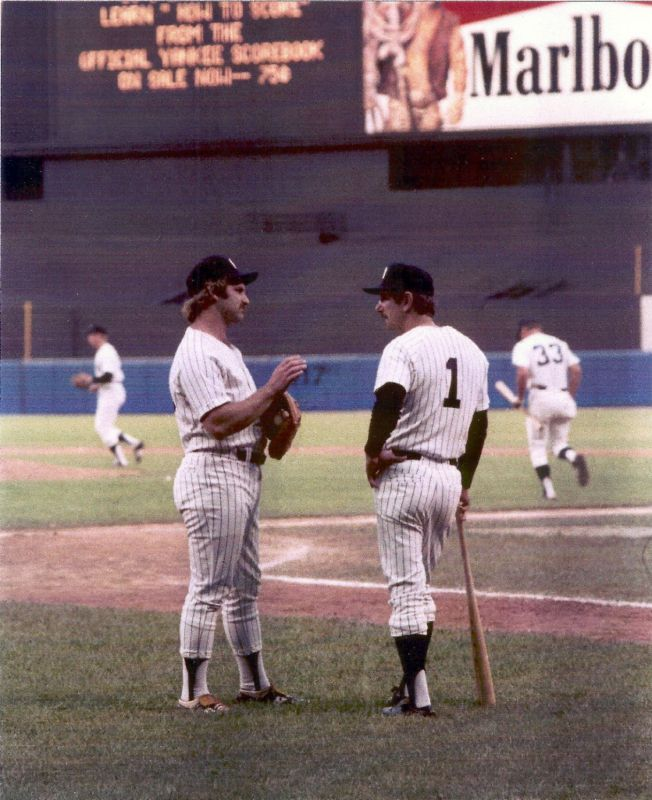 Thurman Munson and Billy Martin, New York Yankees