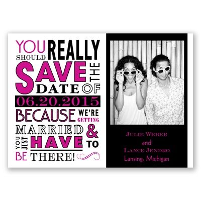 Ga Ga Photo Magnet - Begonia - Save the Date | Invitations By David's Bridal