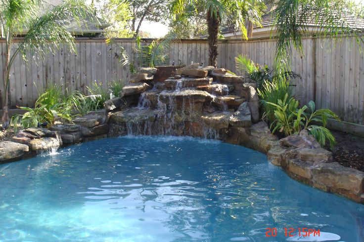 Image Result For Inground Swimming Pools With Waterfalls And Spa