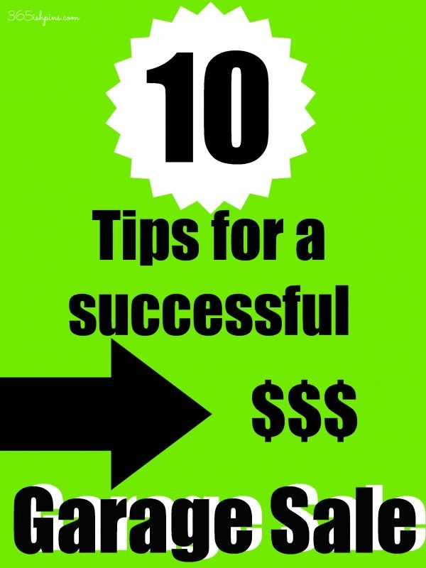 garage sale tips plus use tags not stickers...string can't be removed like stickers to change prices!