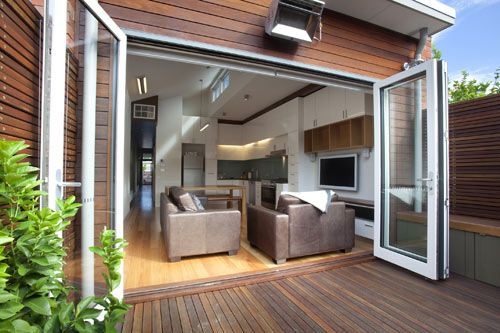 Great bi-fold doors let the outside in