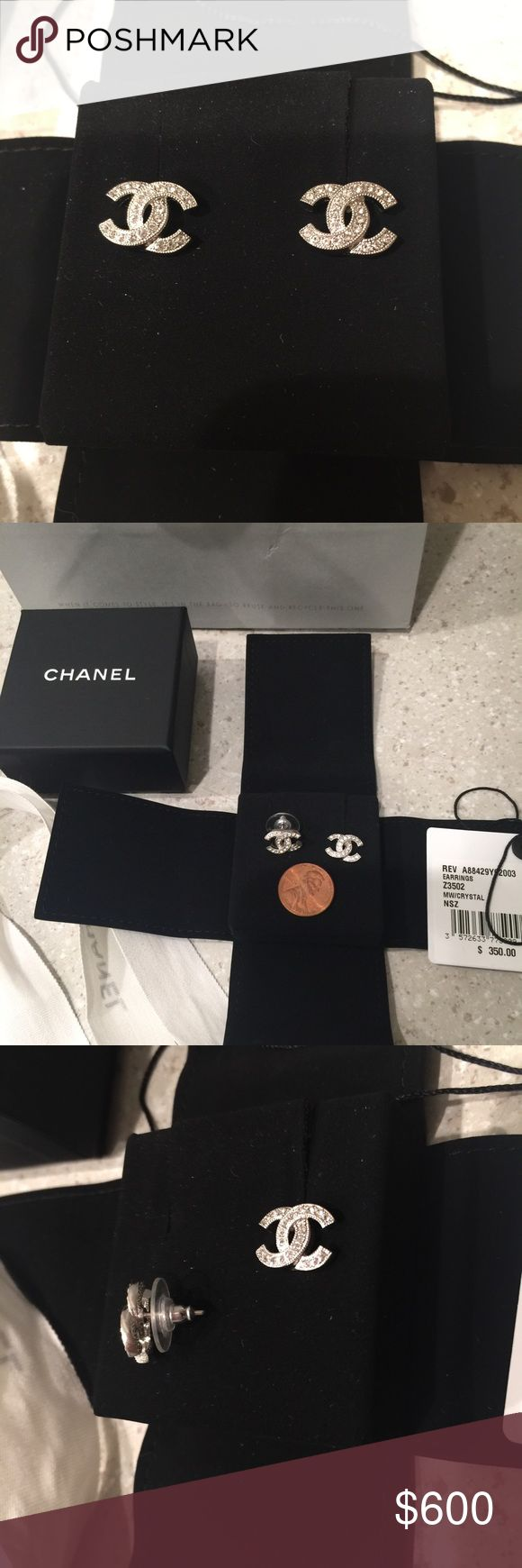 Chanel earrings Brand new. Just bought on 11/19/2016. Price is higher due to rarity. 🅿️🅿️ only and no trade. Please email me at  tthellokitty7043@gmail.com for further questions. CHANEL Jewelry Earrings