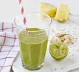 Minty pineapple smoothie