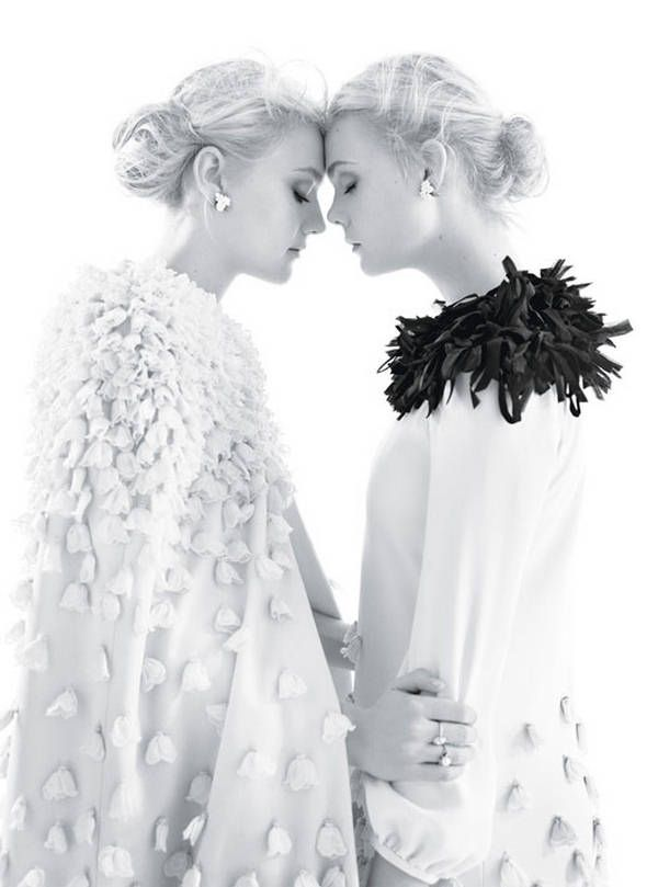 Fanning sisters...would love a sister shot like this before the wedding ceremony