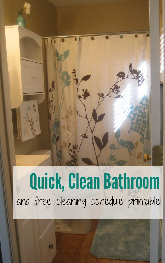Quick, Clean Bathroom & Free Cleaning Schedule Printable #savewithbubbles (ad)