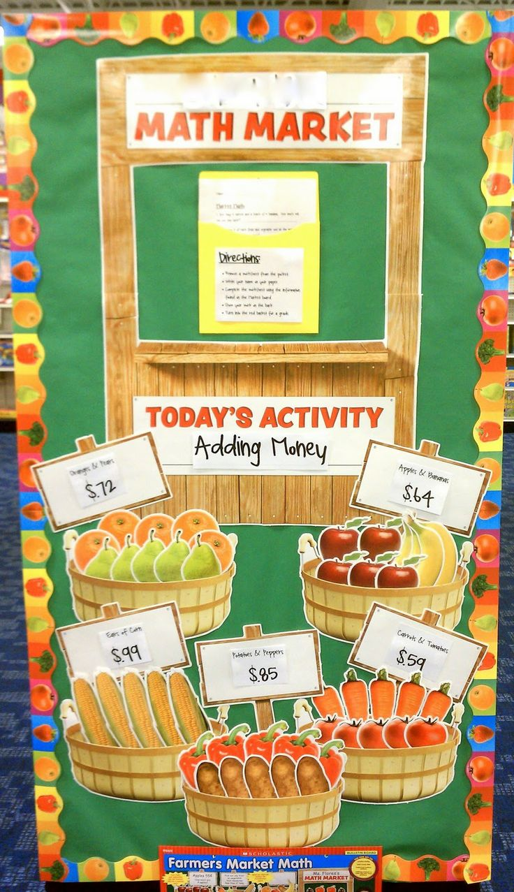 Better Bulletin Boards: Farmer's Market Math.-- Excellent for estimation, calculation and decimals.