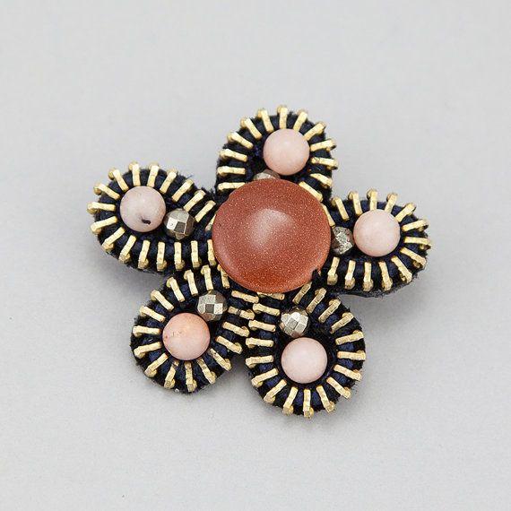 Flower Zipper Brooch