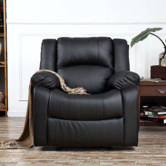 Dorine Manual Recliner Recliner Chair Recliner Black Leather Recliner