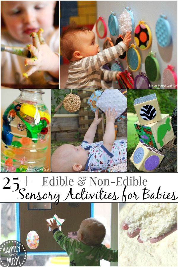 """Simple activities for little ones who love to mouth what they play with and some """"just to touch"""" activities for when they are older ~ pinning this for a rainy day!"""