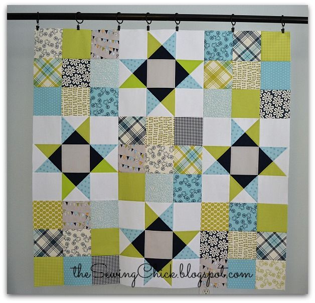 A Baby Boy Quilt Top - The Sewing Chick