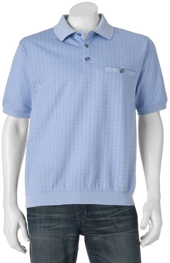 Safe Harbor Big & Tall Safe Harbor Classic-Fit Banded-Bottom Polo
