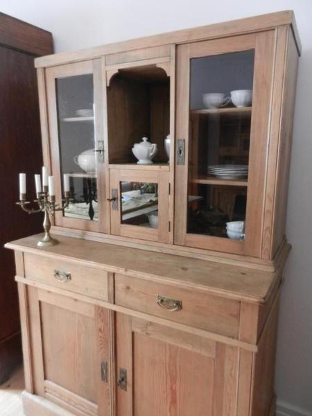 toller weichholzschrank antik schrank anrichte esszimmer. Black Bedroom Furniture Sets. Home Design Ideas