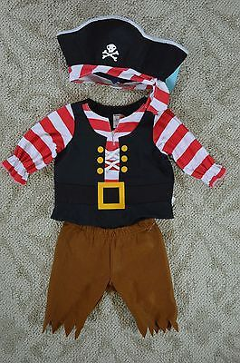 Old Navy new Infant Baby 3 Piece Pirate Halloween Costume size 6-12 Months NWT