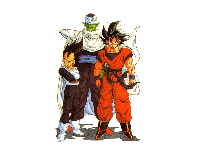 Piccolo goku and vegeta so much badass in one picture for Chambre dragon ball z