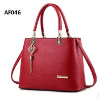 AF046 MERAH Tas wanita import / handbag /tas bahu/tas selempang