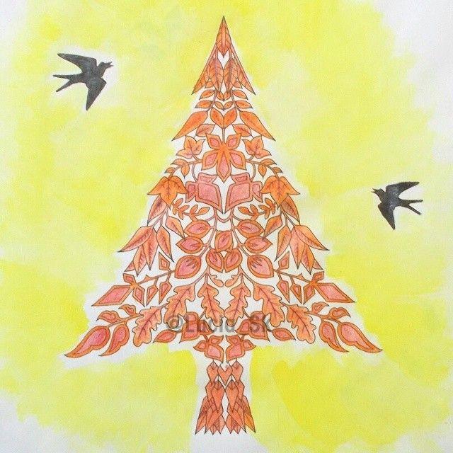 Tree from Enchanted Forest  #colouringbook #coloringbook #adultcoloringbook #livrosdecolorir #arteterapia  #enchantedforest #florestaencantada  #johannabasford #maped #colorpeps #colorindo #coloreando