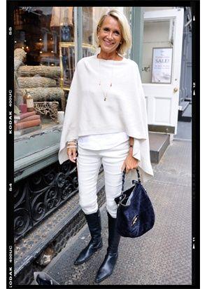 All white with black boots and bag. I can do this!