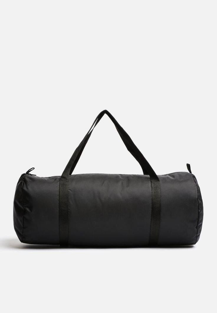 A water resistant gym bag that folds easily into luggage. It features nylon zipper closure, dual handles and a versatile, resilient nylon construction.
